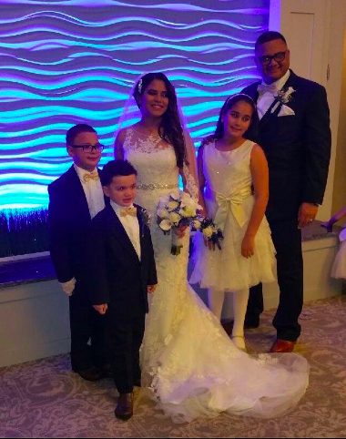 Real Bride: Vicki Sanchez - Enzoani wedding dress in Philadelphia