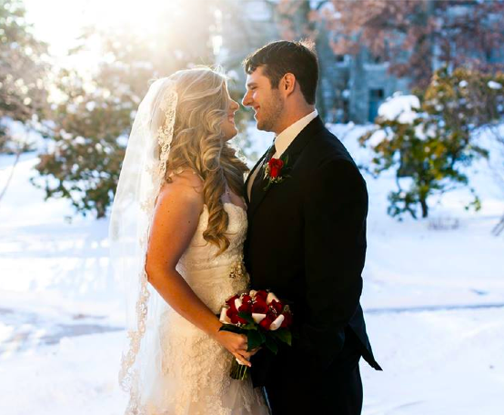 Real Bride: Kaitlyn Benner - Enzoani wedding gown in PA