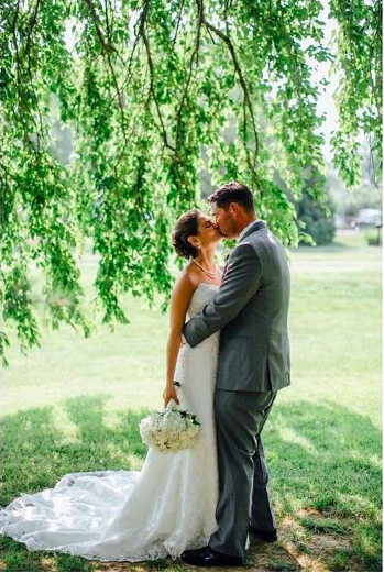 Real Bride: Kelly Howley - Casablanca gown in PA