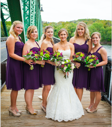 Real Bride: Megan Barci - Enzoani wedding dress in Bucks County