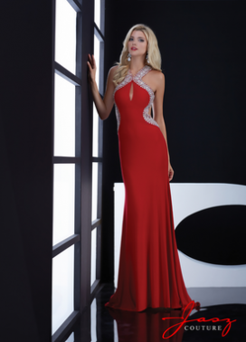 Red Jasz Couture Prom Dress