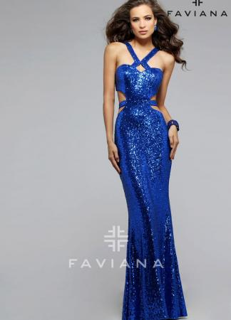 Blue Faviana Prom Dress