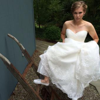 Real Bride: Ashley Ents - Casablanca wedding dress in PA