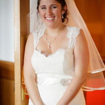 Real Bride: Alyssa Coapman in Paloma Bianca Wedding Gown