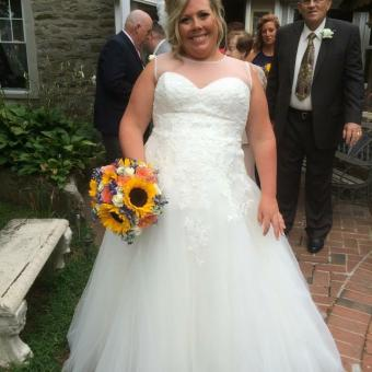 Real Bride: Megan Reed - Enzoani dress in PA