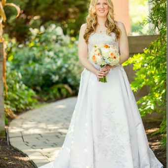 Real Bride: Jammie Reiland - Casablanca wedding gown in PA