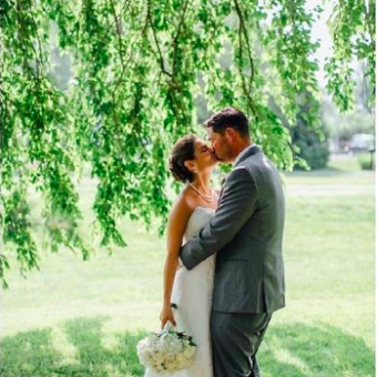 Real Bride: Kelly Howley - Casablanca wedding gown