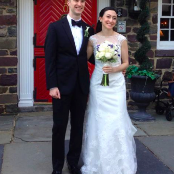 Real Bride: Rachel Sachs - Enzoani Philadelphia wedding dress