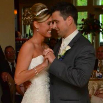 Real Bride: Kari Nightlinger in Enzoani wedding dress in Philadelphia