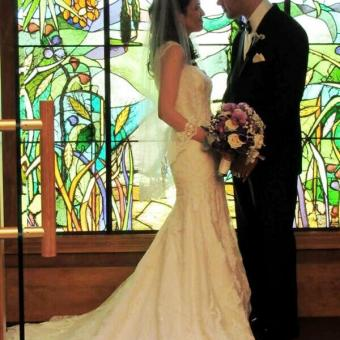 Real Bride: Kim Moses - Casablanca wedding dresses in Philadelphia