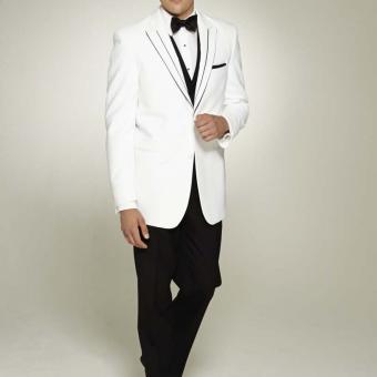 White Tuxedo With Black