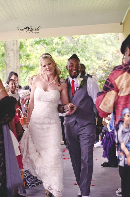 Real Bride: Brenda Christopher - Casablanca wedding dress