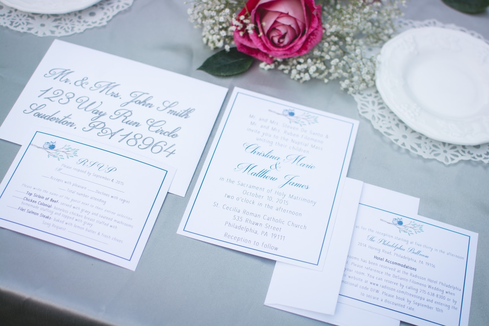 Setting the tone with stationery philadelphia bridal shop we think that stationery is a very important part of setting the tone of your wedding and after reading this you may be thinking more about it too monicamarmolfo Choice Image