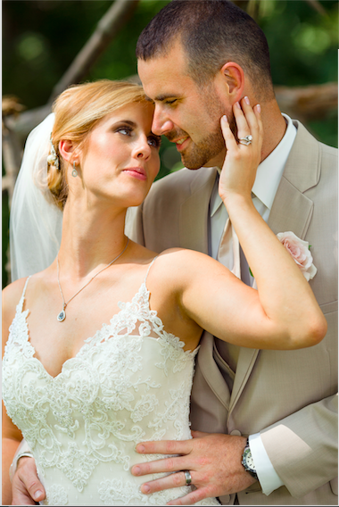 Real Bride: Amanda Corney - Casablanca wedding dress