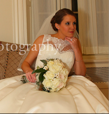 Real Bride: Sara Haas - Enzoani wedding dress in PA