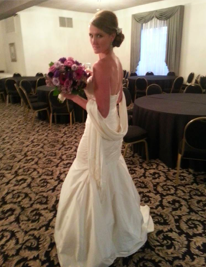 Real Bride: Robin Zielinski - Alyne wedding dress
