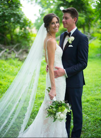 Real Bride: Laura Polish - Casablanca gown in Bucks County
