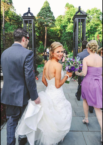 Real Bride: Laura Detwiler wedding dress in PA