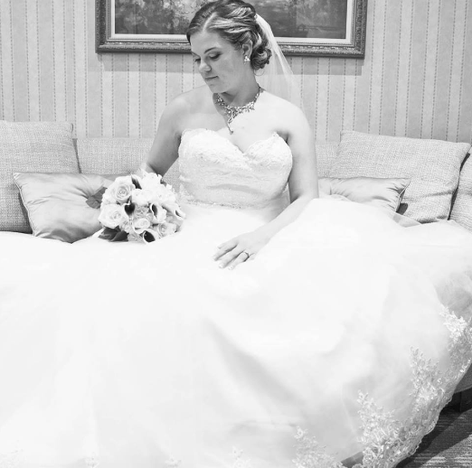Real Bride: Kaitlin Clerihan Enzoani gown in PA