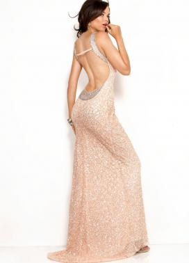 Pale Pink Scala USA prom dress