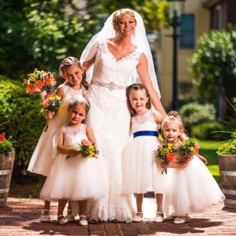 Real Bride: Kim Lennon-Stellino - Kitty Chen Wedding Dress