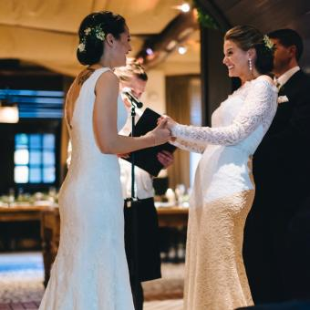 Real Bride: Bucks County Wedding Dress by Casablanca