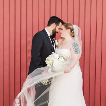 Real Bride: Heather Dulin Bucks County Enzoani Gown