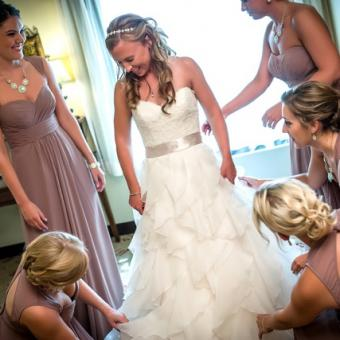 Real Bride: Megan McNicholas - Paloma Blanca gown in PA