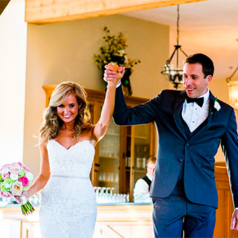 Real Bride: Danielle Rotzell - Casablanca wedding dress in PA