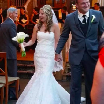Real Bride: Christine Regan - Enzoani wedding dress