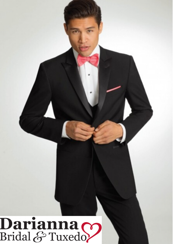 46L Black Chaps Ralph Lauren Discount Tuxedo Jacket Formal Tux Coat Prom Gala