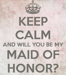 selecting your maid of honor