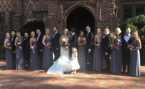 Heather, Mark and their bridal party