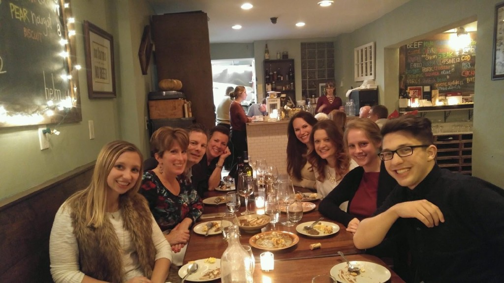 The staff of Darianna Bridal at dinner