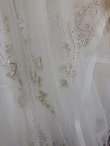 4da25e6e4c3a7 Beaded organza tiered skirt on this Casablanca dress