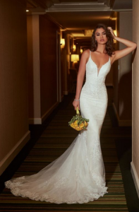 "f70aee2ab194 ""This dress is so elegant and with color options can be versatile to fit the  venue. The back is open"