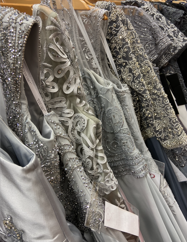Gray and pewter mother of the bride dresses with lace and sparkle, sleeves in the long and short links, crêpe, chiffon, and satin fabrics